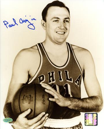 Paul Arizin Philadelphia Warriors Autographed Photo (Hand Signed Collectable)