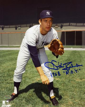Stan Bahnsen New York Yankees with 68 ROY Inscription Autographed Photo (Hand Signed Collectable)