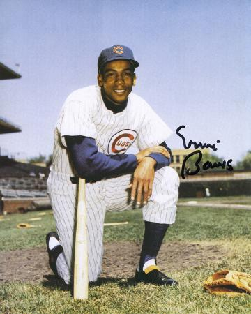Ernie Banks Chicago Cubs Cardboard Autographed Photo (Hand Signed Collectable)