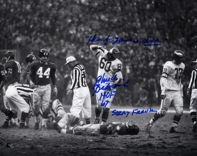 """Chuck Benarik Eagles """"This f..ing game is OVER"""", HOF 67 Autographed Photo (Hand Signed Collectable)"""