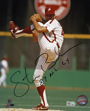 Steve Bedrosian Philadelphia Phillies with 87 NL CY  Autographed Photo (Hand Signed Collectable)