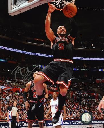 Carlos Boozer Chicago Bulls Autographed Photo (Hand Signed Collectable)