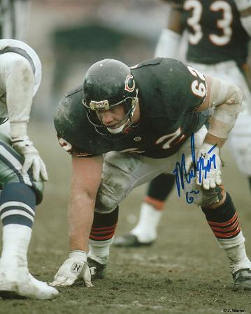 Mark Bortz Chicago Bears Autographed Photo (Hand Signed Collectable)