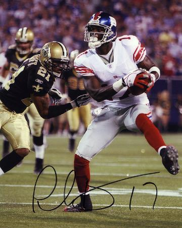 Plaxico Burress New York Giants Autographed Photo (Hand Signed Collectable)