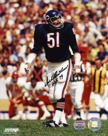 Dick Butkus Chicago Bears  Ready to Tackle with HOF 79  Autographed Photo (Hand Signed Collectable)