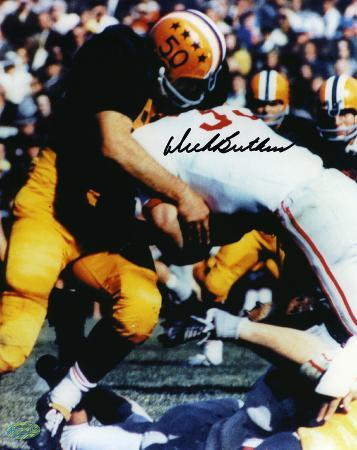 Dick Butkus Illinois Fighting Illini Tackling Autographed Photo (Hand Signed Collectable)