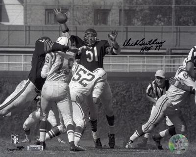Dick Butkus Chicago Bears with HOF 79 Inscription Autographed Photo (Hand Signed Collectable)