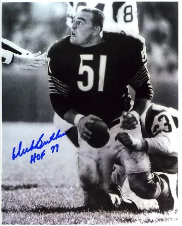 Dick Butkus Chicago Bears -Rookie- with HOF 79  Autographed Photo (Hand Signed Collectable)