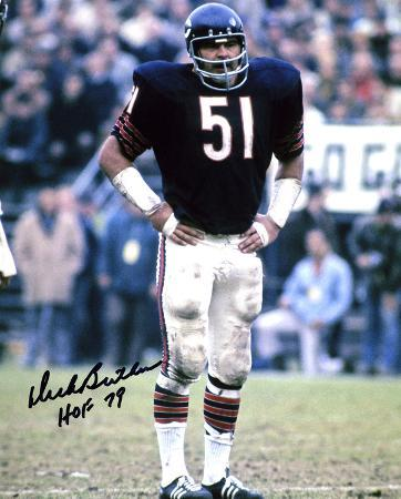 Dick Butkus Chicago Bears -Hands on Hips- with HOF 79  Autographed Photo (Hand Signed Collectable)