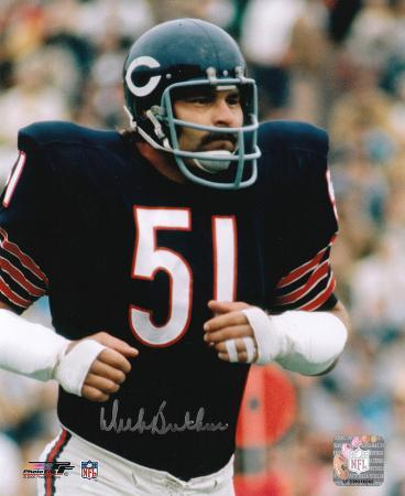 Dick Butkus Chicago Bears - Running Signed in Silver Autographed Photo (Hand Signed Collectable)