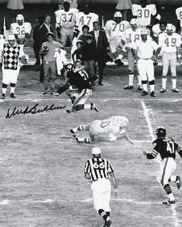 Dick Butkus Chicago Bears - Leaping Autographed Photo (Hand Signed Collectable)