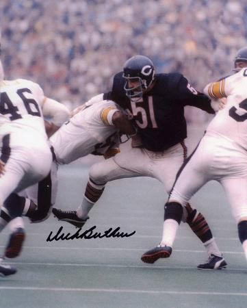 Dick Butkus Chicago Bears - vs. Steelers Autographed Photo (Hand Signed Collectable)