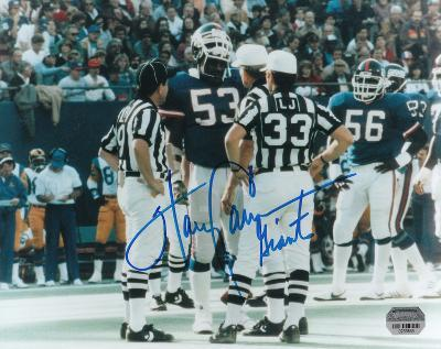 Harry Carson New York Giants with Giants Inscription Autographed Photo (Hand Signed Collectable)