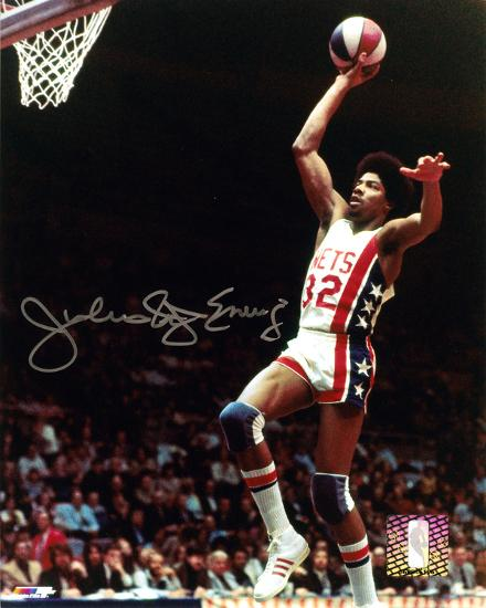 11bd087b Julius Erving New Jersey Nets with Dr. J Inscription Autographed Photo  (Hand Signed Collectable) Photo at AllPosters.com
