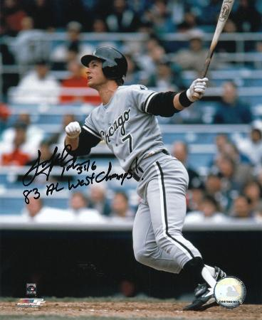 Scott Fletcher White Sox with 83 AL West Champs  Autographed Photo (Hand Signed Collectable)