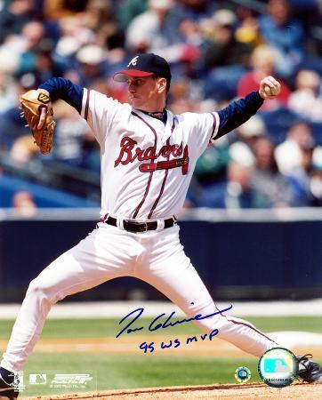 Tom Glavine Atlanta Braves with 95 WS MVP Inscription Autographed Photo (Hand Signed Collectable)