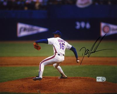 """Dwight """"Doc"""" Gooden New York Mets - Pitching Autographed Photo (Hand Signed Collectable)"""