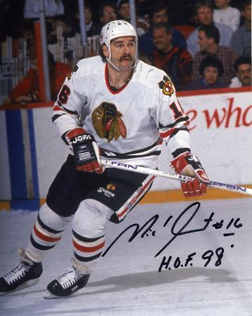 "Michel Goulet Chicago Blackhawks with ""HOF 89""  Autographed Photo (Hand Signed Collectable)"