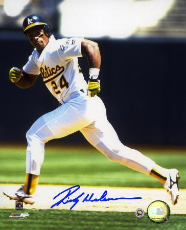 Rickey Henderson Oakland Athletics Autographed Photo (Hand Signed Collectable)