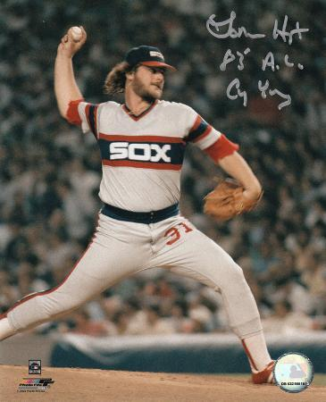 Lamarr Hoyt Chicago White Sox with 83 AL CY Inscription Autographed Photo (Hand Signed Collectable)