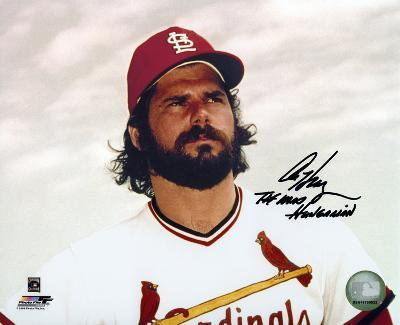 """Al Hrabosky St. Louis Cardinals with """"The Mad Hungarian"""" Autographed (Hand Signed Collectable)"""