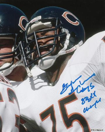 Stefan HumpHome Runies Chicago Bears with SB XX Champs Autographed Photo (H& Signed Collectable)