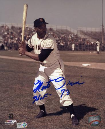 Monte Irvin Giants with Hall Of Fame 73 Inscription Autographed Photo (Hand Signed Collectable)