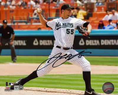 Josh Johnson Florida Marlins Autographed Photo (Hand Signed Collectable)