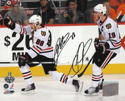 Patrick Kane and Jonathan Toews Chicago Blackhawks - 2010 Stanley Cup Action