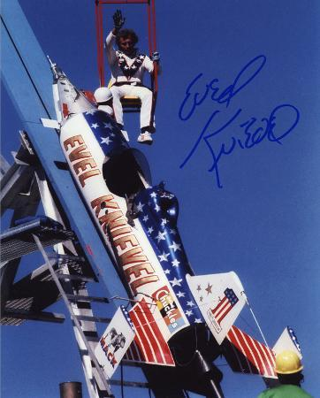 Evel Knievel (motorcycle Stuntman) -Sky Rocket Autographed Photo (Hand Signed Collectable)