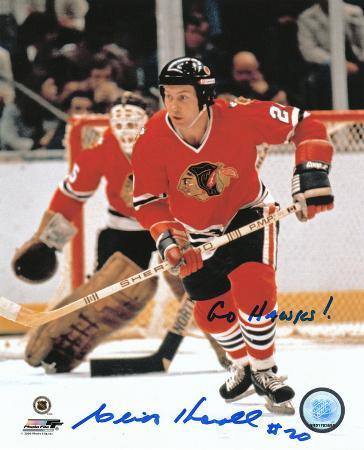 Cliff Koroll Chicago Blackhawks with Go Hawks!  Autographed Photo (Hand Signed Collectable)