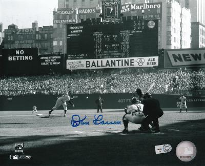 Don Larsen New York Yankees WS Perfect Game First Pitch Autographed Photo (Hand Signed Collectable)