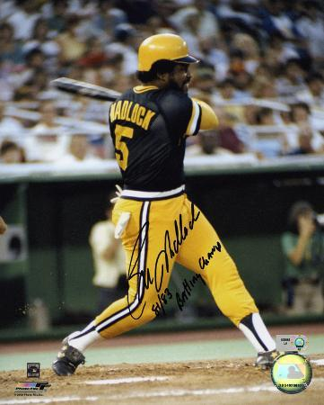 Bill Madlock Pittsburgh Pirates with 81/83 Batting Champ Inscription