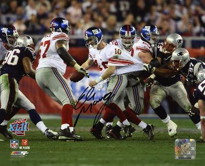 Eli Manning New York Giants - Super Bowl XLII Scramble Autographed Photo (Hand Signed Collectable)