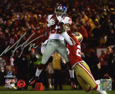 Mario Manningham New York Giants Autographed Photo (Hand Signed Collectable)