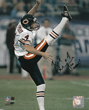 Brad Maynard Chicago Bears with Go Bears Inscription Autographed Photo (Hand Signed Collectable)
