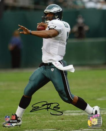 Donovan McNabb Philadelphia Eagles- Rolling Out Autographed Photo (Hand Signed Collectable)