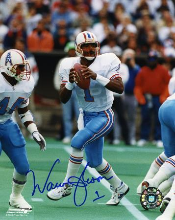 Warren Moon Houston Oilers Autographed Photo (Hand Signed Collectable)