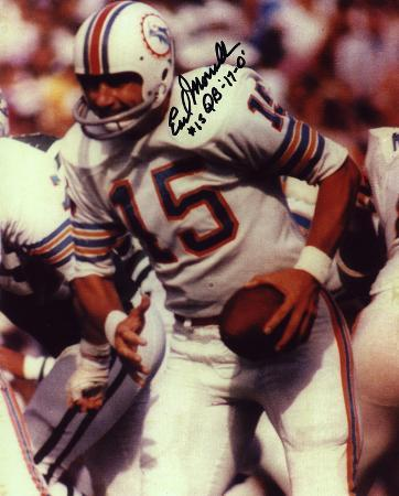 Earl Morrall Miami Dolphins with 17-0 #15 Quarterback  Autographed Photo (Hand Signed Collectable)