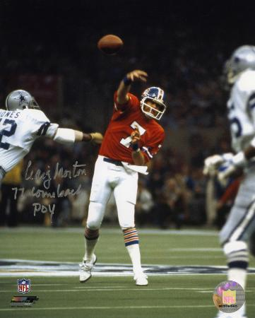 Craig Morton Denver Broncos with 77 Comeback POY  Autographed Photo (Hand Signed Collectable)