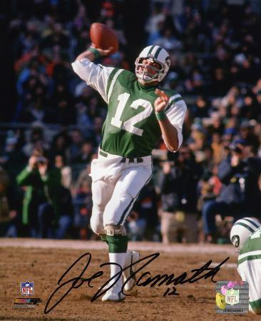 Joe Namath New York Jets Autographed Photo (Hand Signed Collectable)