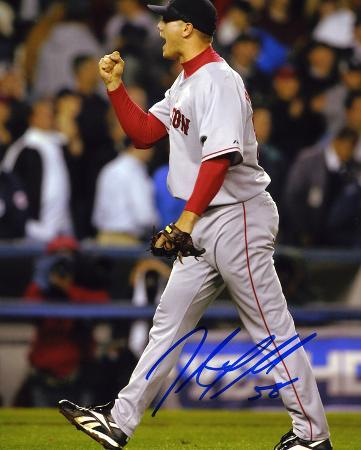 Jonathan Papelbon Boston Red Sox Autographed Photo (Hand Signed Collectable)