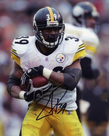 Willie Parker PittsburgSteelers - Protecting the Ball Autographed Photo (Hand Signed Collectable)