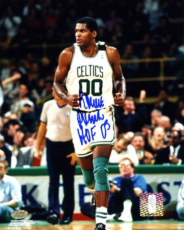 Robert Parish Boston Celtics - Action with HOF'03  Autographed Photo (Hand Signed Collectable)