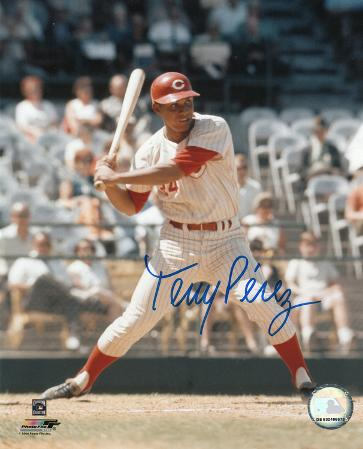 Tony Perez Cincinnati Reds Autographed Photo (Hand Signed Collectable)