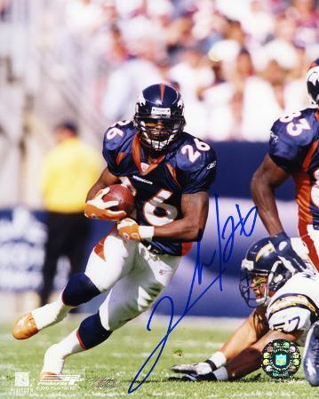 Clinton Portis Denver Broncos Autographed Photo (Hand Signed Collectable)