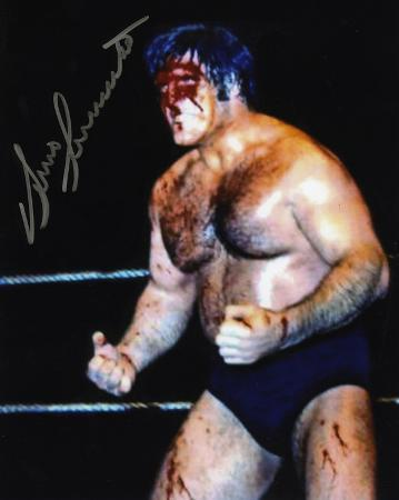 Bruno Sammartino WWE - Blood Autographed Photo (Hand Signed Collectable)