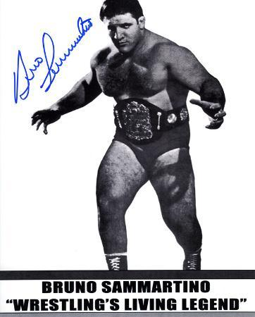Bruno Sammartino WWE Autographed Photo (Hand Signed Collectable)
