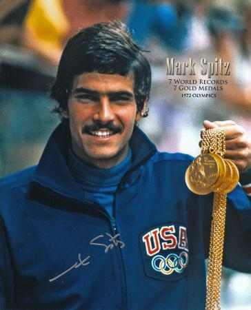 Mark Spitz Olympian (Swimming) Autographed Photo (Hand Signed Collectable)