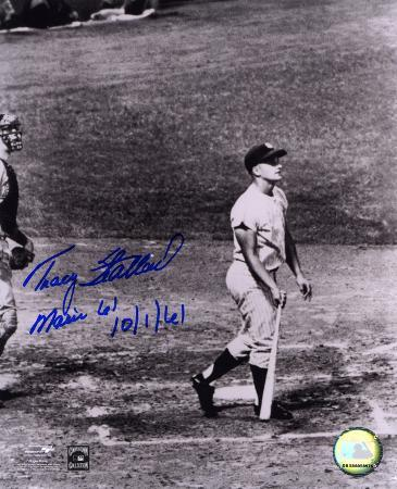 Tracy Stallard Boston Red Sox Maris' 61st 10/1/61 Autographed Photo (Hand Signed Collectable)